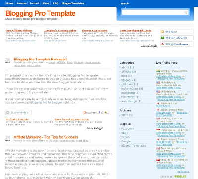 Blogging Pro Blogger Template