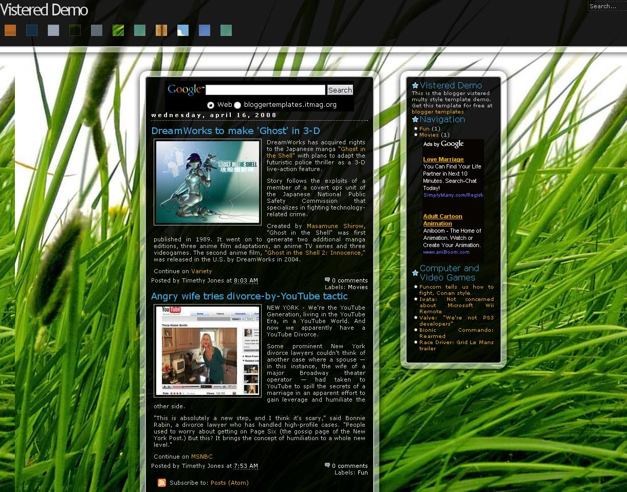 Themerious Vistered Template for Blogspot