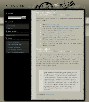 Solipsus Blogger Template