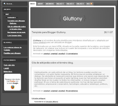 Gluttony Blogger Theme