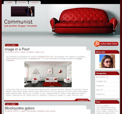 Communist the Furniture Blogger Template