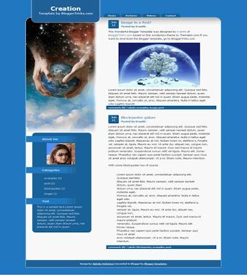 Creation Blogger Theme