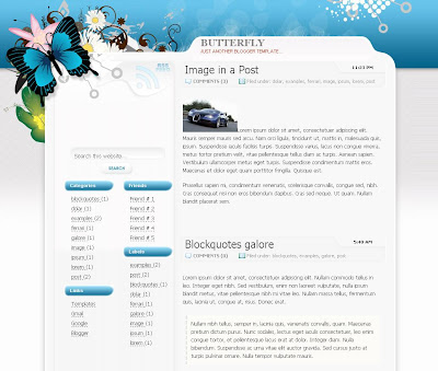 The Butterfly Blogspot Template