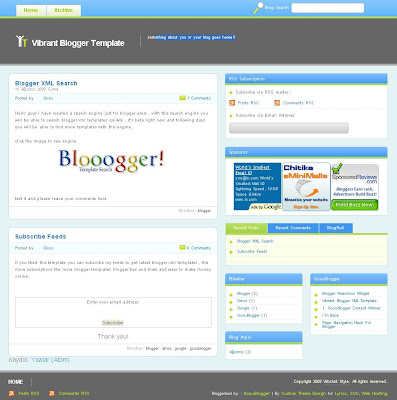 Vibrant Blogger Template