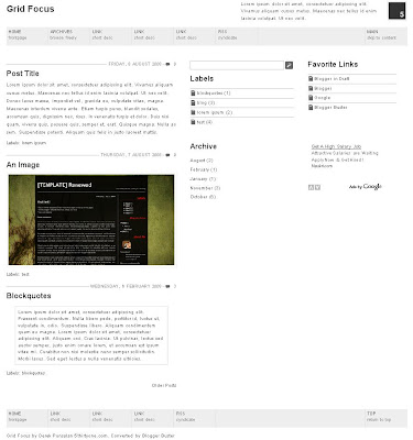 Grid Focus Blogger Template