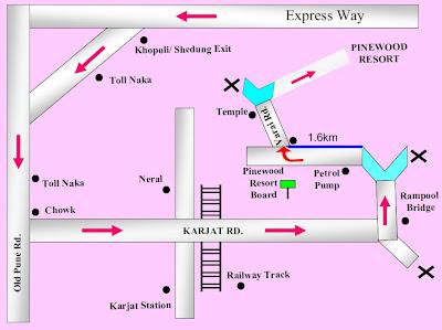 Map to Pinewood Resort