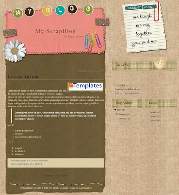 My Scrapblog Template