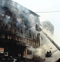 Kalbadevi building on fire