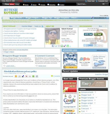 Bmagazine premium blogger template