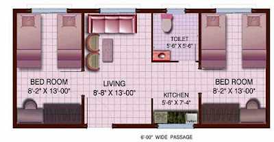 tmc 2 bhk flat plan
