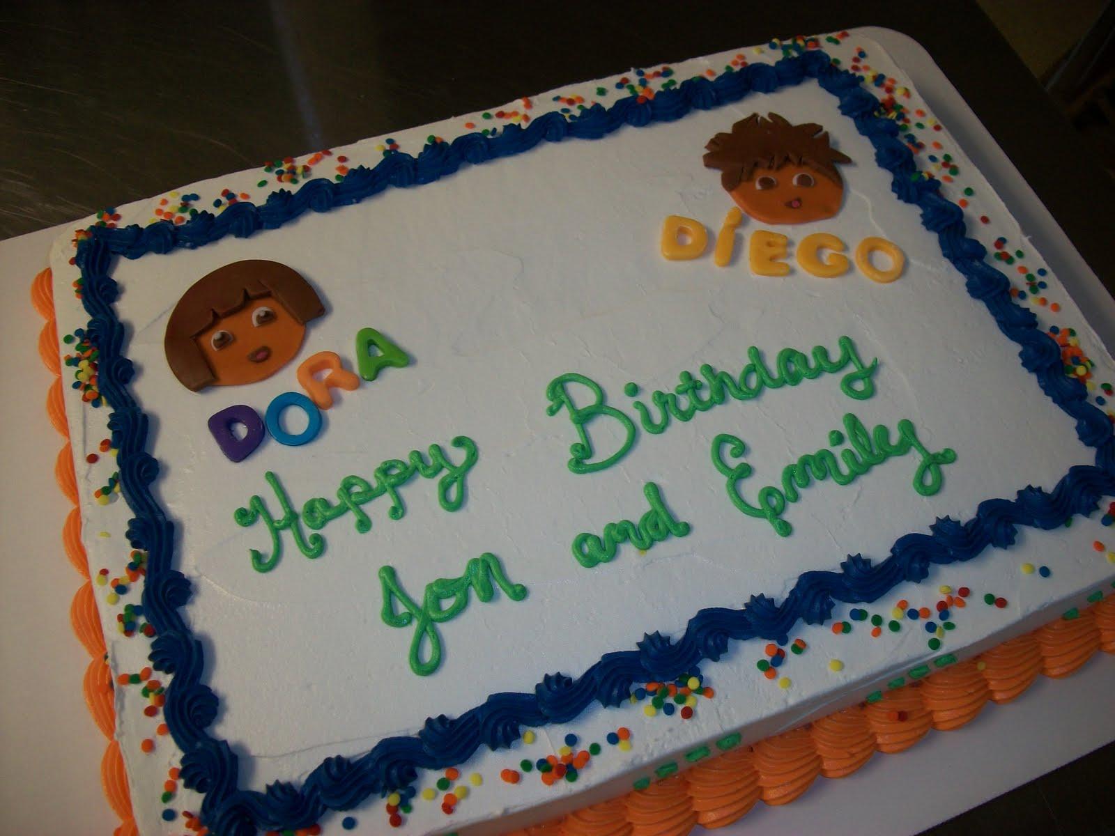 Kroger Sheet Cake Designs : Pin Dora And Diego 2nd Birthday   Cake Photos Cake on ...