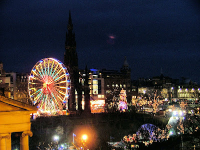 Xmas in Princes Street, Edinburgh