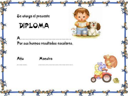 Marcos y bordes infantiles para diplomas - Imagui