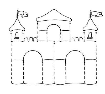 Ejercicio: Repasar los contornos del castillo y colorear.