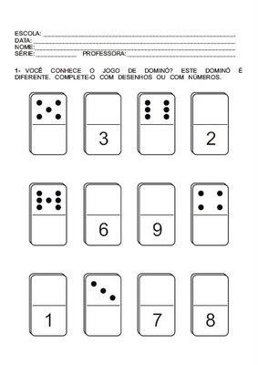 Cuadernos de matem ticas ficha n 1 fichas para ni os for Fichas de domino