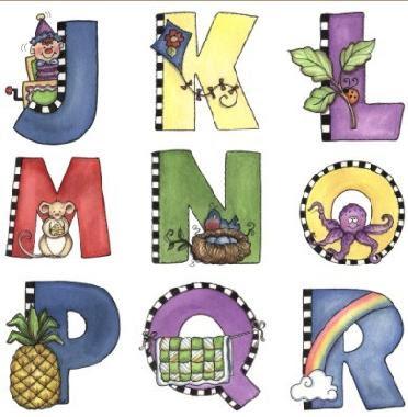 Dibujos de letras decoradas infantil y para ni os - Letras decorativas para ninos ...