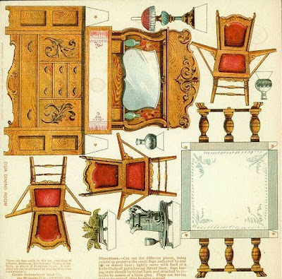 Recortables para ni os muebles recortables para casitas for Muebles de cocina para montar