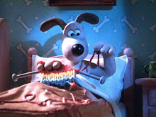 Gromit Knitting