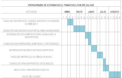 DIANA ACU  A  FISICO CRONOGRAMA DE ACTIVIDADES U DISTRITAL