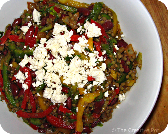 Photo of Bellpepper & Lentil Salad