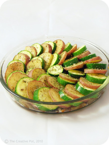 Balsamic Potato & Zucchini Tian [photo]