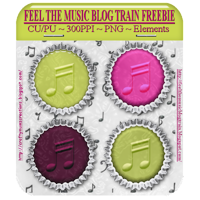 "ELEMENTS from ""Feel the Music"" Blog Train by Craftymumz Creations FTM_BOTTLECAPfreebies_RSW"