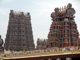 Madurai Meenakshi temple towers