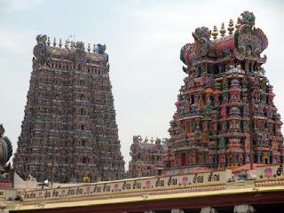 Madurai Meenakshi temple towers