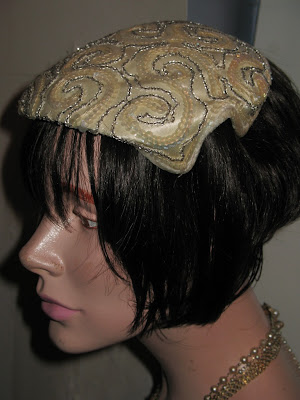 vintage sequined cocktail hat