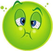 hahaha felt icky green sick