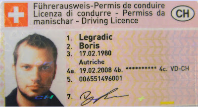 Letters From Lausanne Driving Licence