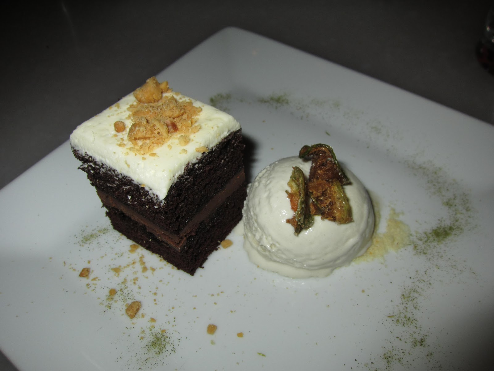 ... Thai Eggplant Green Curry Chocolate Cake with Coconut-Thai Basil Ice