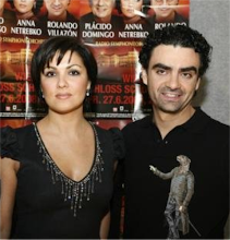 "Anna and Rolando at the pressconference of the ""Schnbrunn concert"" on 10th february 2008 in Vienna"