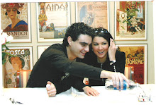 Anna and Rolando at the press conference for Roméo et Juliette at the LA opera in 2005
