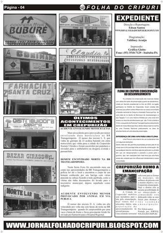 jornal folha do cripuri