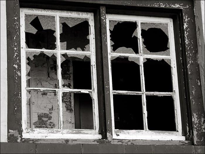 Cartoon Broken Window Glass