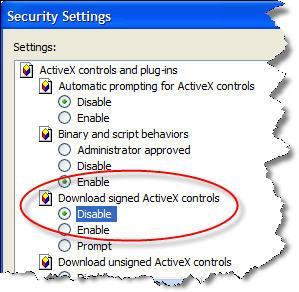 how to add activex control in internet explorer