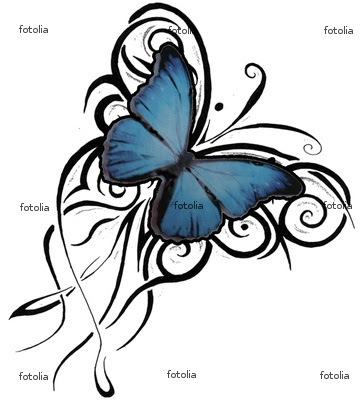 Tribal butterfly tattoo designs are generally comprised of simple flowing
