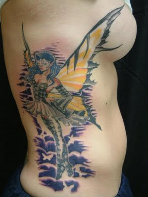 Hot New Spectacular Elf Buterfly Japanese Tattoo Designs