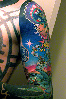sleeve tattoo, Dragon Tattoo, japanese tattoo, Polynesian tattoo
