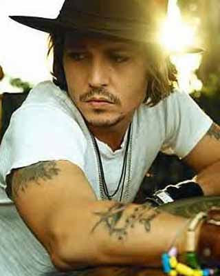 johnny depp lily rose tattoo. Johnny Depp Tattoo