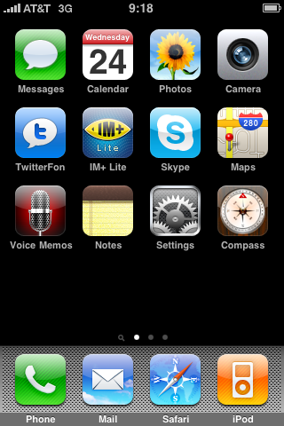 see the iphone 3gs apps on