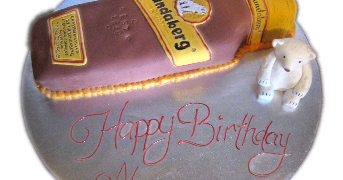 Edible Cake Images Bundaberg : Birthday Cake Center: Bundaberg Rum Bottle & Bear Cake