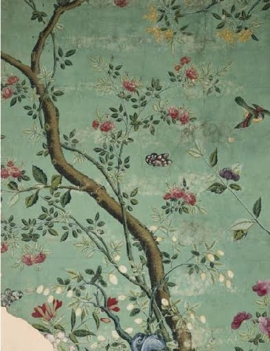 Citrusandorange chinoiserie wallpaper for Chinoiserie mural wallpaper