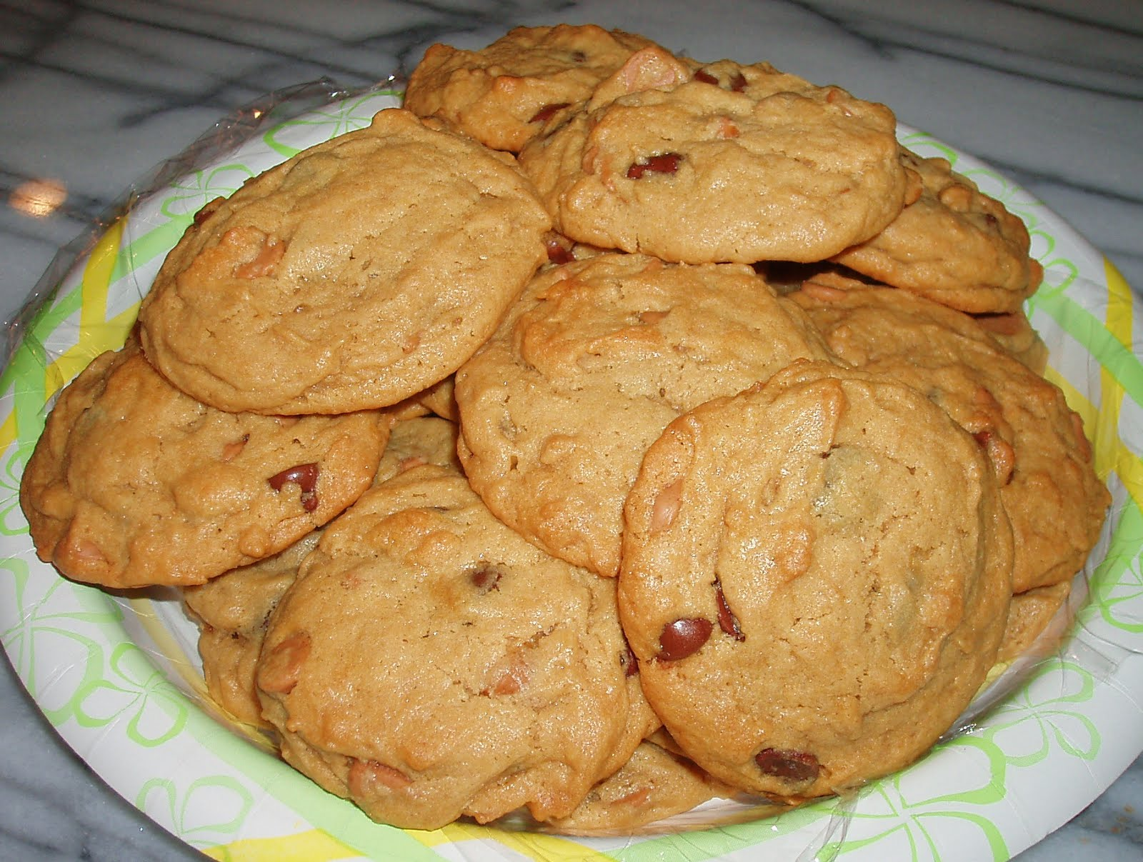 Monster Peanut Butter-Oatmeal-Chocolate Chip Cookies Recipe ...