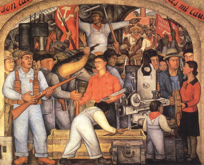 Art contrarian do political paintings age well for Diego rivera mural paintings