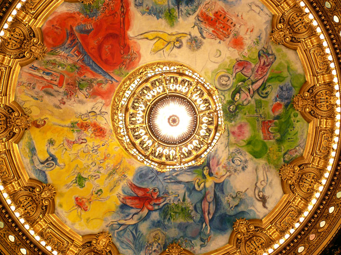 The violin shop the phantoms inspiration chaos in the paris a scaled down reproduction of lenepveus original ceiling the chandelier and bronze reflector would have hung in the center aloadofball Images