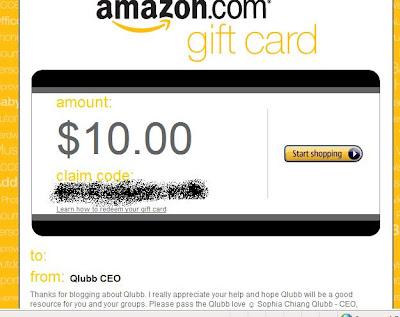 Amazon Gift Card Qlubb