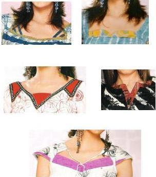 Salwar neck model