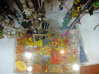 yellow and orange beads